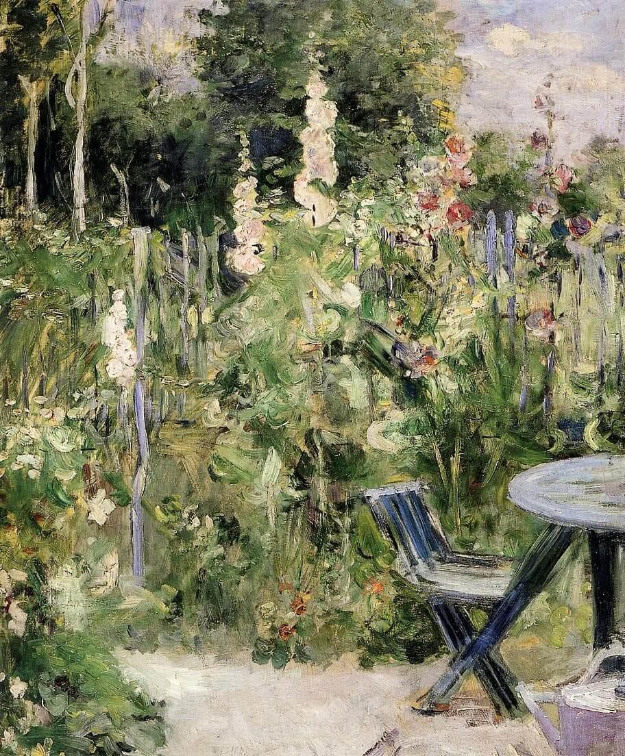 """Malvarrosas"" por Berthe Morisot"